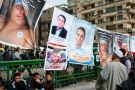 Posters of people killed in anti-government protests, Tahrir Square, Cairo