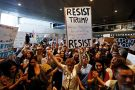 Resist Trump protesters