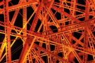 Web of girders coloured orange