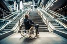 Wheelchair at stairs