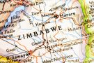 Zimbabwe on a map