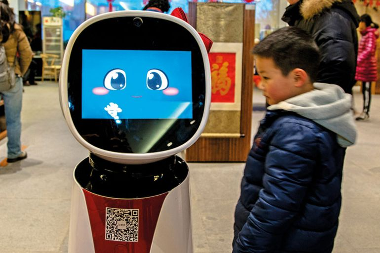 AI robot at a shop in China