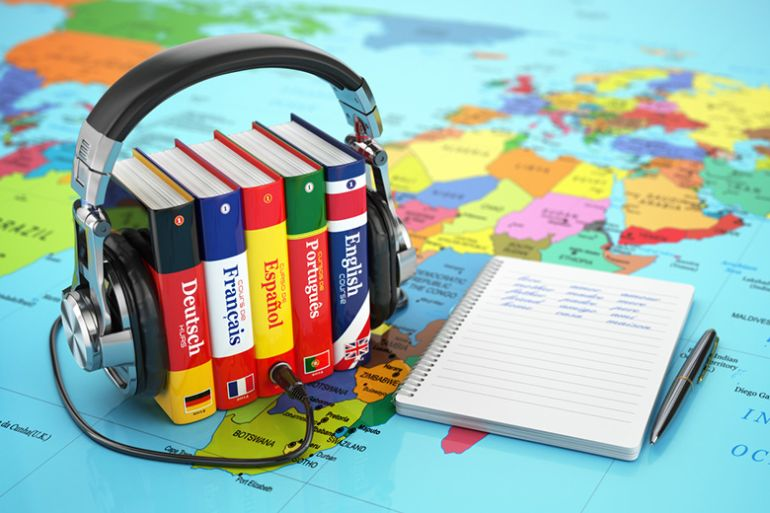 Language learning with dictionaries