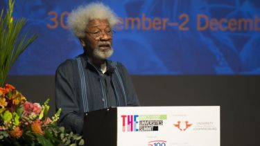 Wole Soyinka speaking at the BRICS Universities Summit