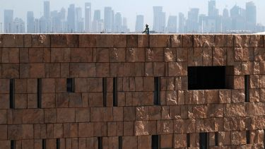 A construction worker in Doha, Qatar