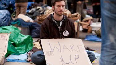 American Wall Street protester