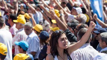Protest in Ankara, Turkey
