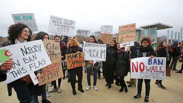 anti-trump travel ban demonstration