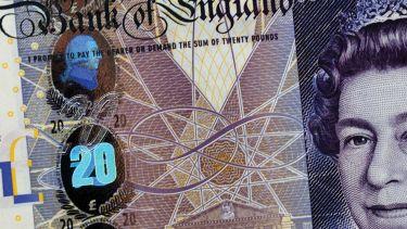 British twenty pound note (detail)