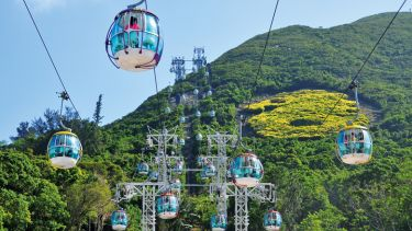 Cable car system, Ocean Park, Hong Kong, China