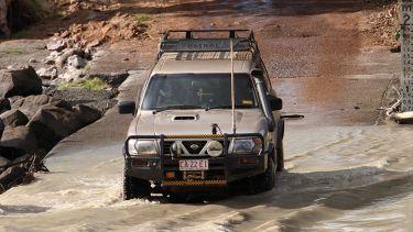 Driving through Australian outback