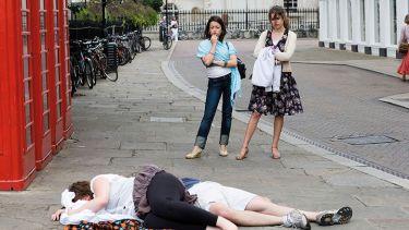 Drunk people on the street