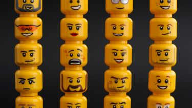 Emotions on the faces of Lego heads