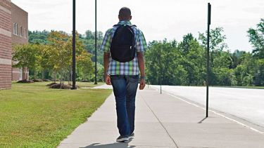 ethnic student leaving