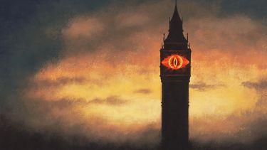 Illustration: Eye of Sauron in Westminster