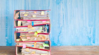 files with post it notes