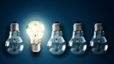 Five lightbulbs