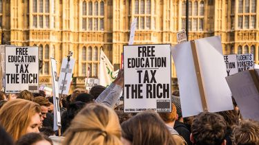 Free education protesters