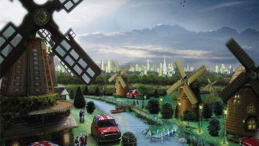 Future concept painting of Birmingham