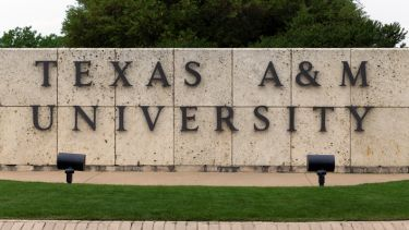 Sign at Texas A&M University