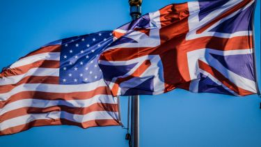 US flag, UK flag, special relationship,