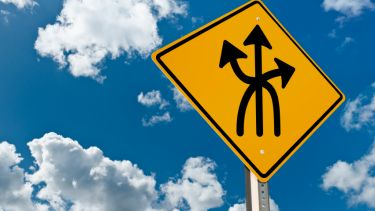 Sign with multiple directions