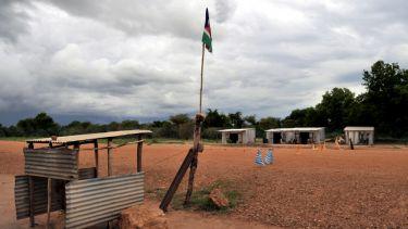 Road block in South Sudan