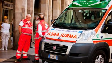 Ambulance in Milan, Italy