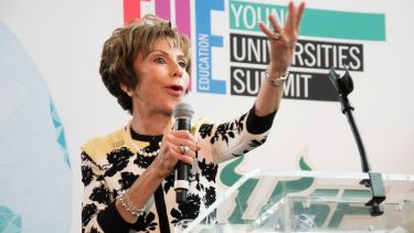 Judy Genshaft speaks at the THE Young Universities Summit