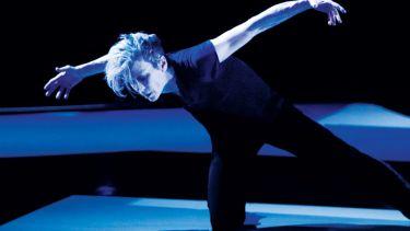 Louise Lecavalier striking dance pose in So Blue