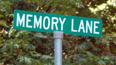 'Memory Lane' road sign