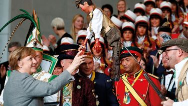 Merkel meets a puppet