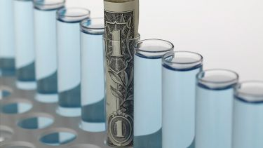 Money in a test tube