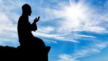 Muslim man praying