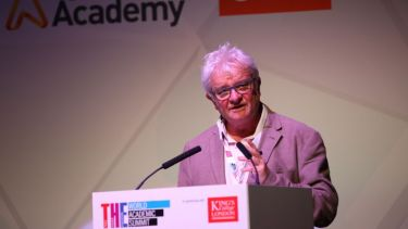 Paul Nurse speaks at the Times Higher Education World Academic Summit