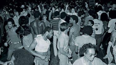 People dancing at Paradise Garage, New York City, 1979