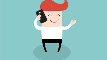 Person speaking on mobile phone (illustration)