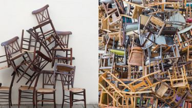 Piles of chairs