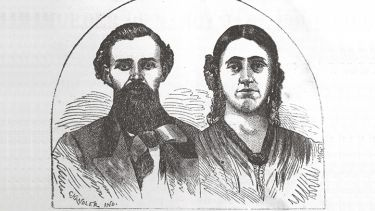 Profile sketches of Jacob and Nancy Jane Young