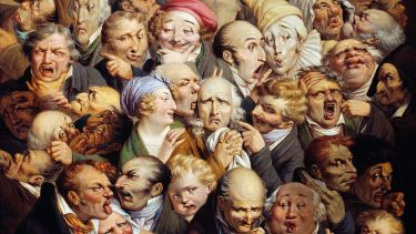 Reunion of 35 Facial Expressions, by Louis Leopold Boilly