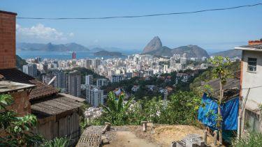 Rio de Janeiro viewed from Vila Pereira da Silva favela, Brazil