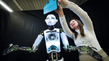 robot with girl