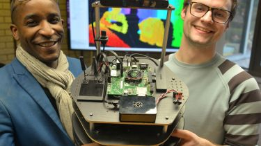 Students at Aberystwyth University design librarian robot