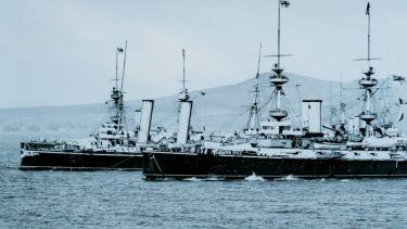 Royal Navy warships HMS Majestic and HMS Blake
