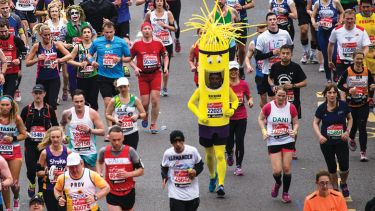 Runners competing in London Marathon
