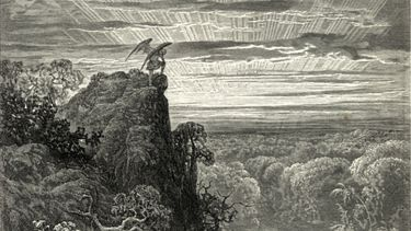 An image of Satan from Paradise Lost