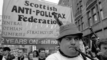 Scottish anti-poll tax demonstration