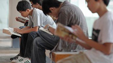 Singaporean children reading