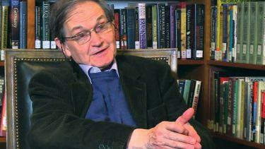 Sir Roger Penrose speaking during video interview