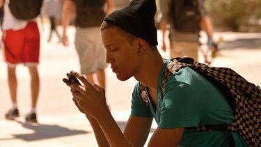 Solitary student on social media